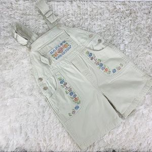 Harley-Davidson Tan Embroidered Overall Short Sz 6